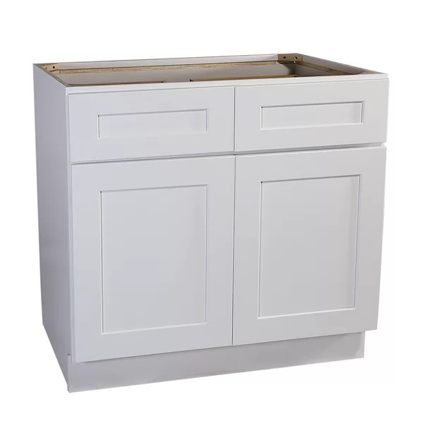 frits ready to assemble 48 x 34 5 x 24 in base cabinet style 2 door with 2 drawer in white