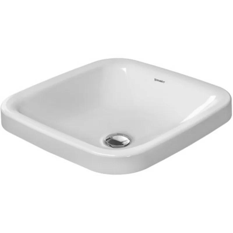 DuraStyle Ceramic Square Undermount Bathroom Sink with Overflow