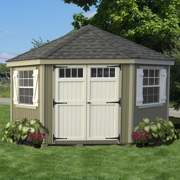 Little Cottage Company Colonial 10 ft W x 10 ft D Wooden