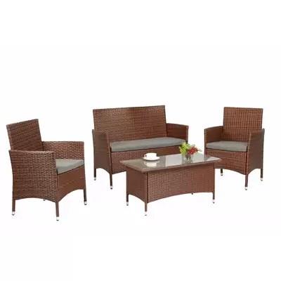 cushion sofa set foam sheets ebern designs edward 4 piece with cushions reviews wayfair wen rattan