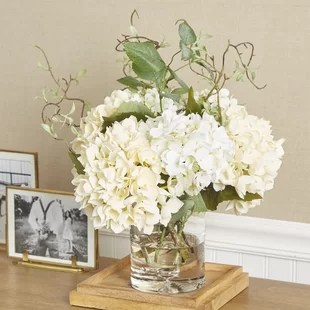 Artificial Flowers In A Vase Wayfair
