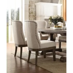 Upholstered Dining Room Chairs With Arms Z Gallerie Nailhead You Ll Love Wayfair Onsted Chair Set Of 2