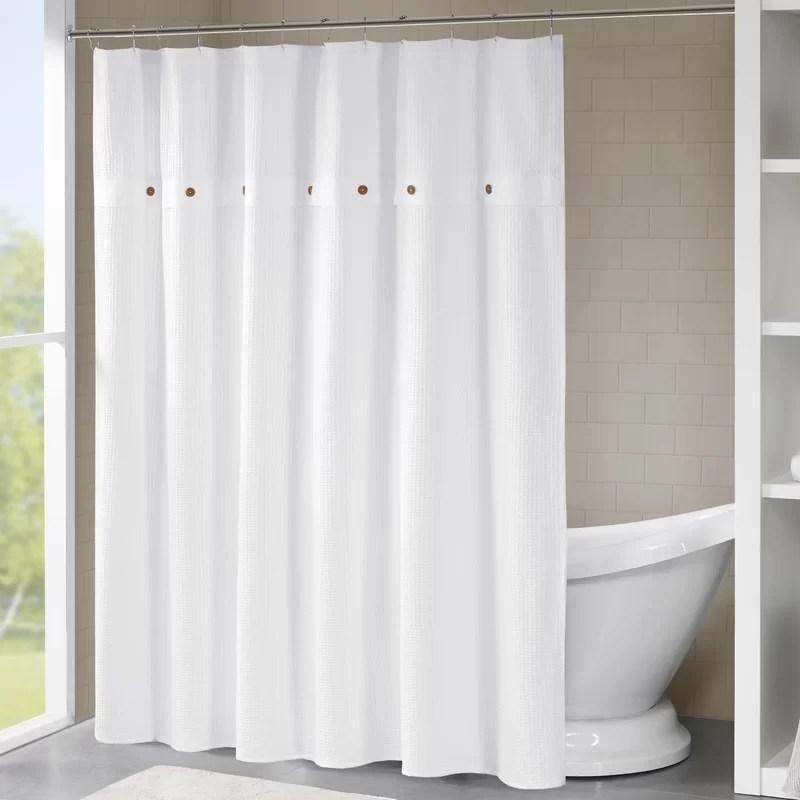 abner waffle 100 cotton single shower curtain