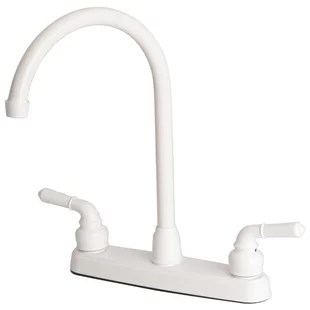 white kitchen faucet cabinets light wood faucets you ll love wayfair quickview