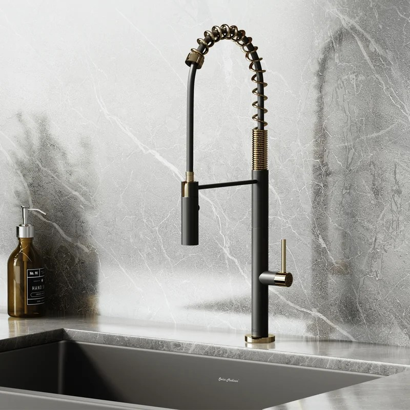 chalet pull out single handle kitchen faucet