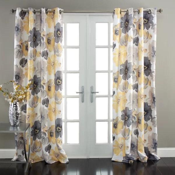 light yellow curtains
