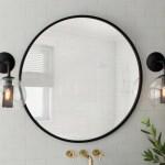 Modern Black Round Wall Mirrors Allmodern