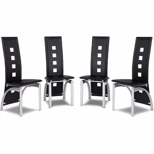 high back dining chair small cushions extra tall chairs wayfair sonia set of 4