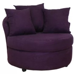 Purple Swivel Chair Metal Cafe Modern Accent Chairs Allmodern Quickview