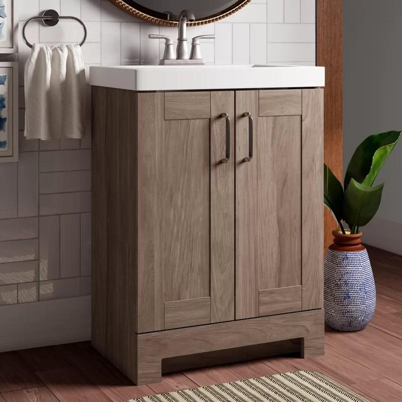 Nels 25 Single Bathroom Vanity Set Reviews Joss Main