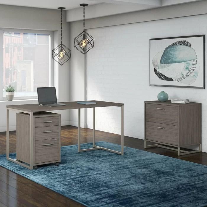 Kathy Ireland Office By Bush Method 3 Piece Rectangular Desk Office
