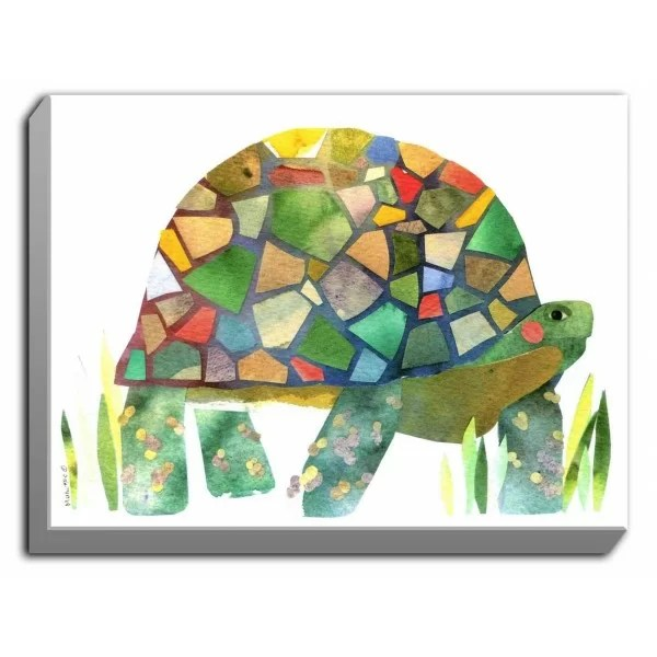 Turtle by Marley Ungaro Graphic Art on Wrapped Canvas Size: 30 H x 40 W x 1.5 D