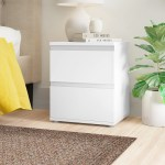 Zipcode Design Haddam 2 Drawer Nightstand Reviews Wayfair