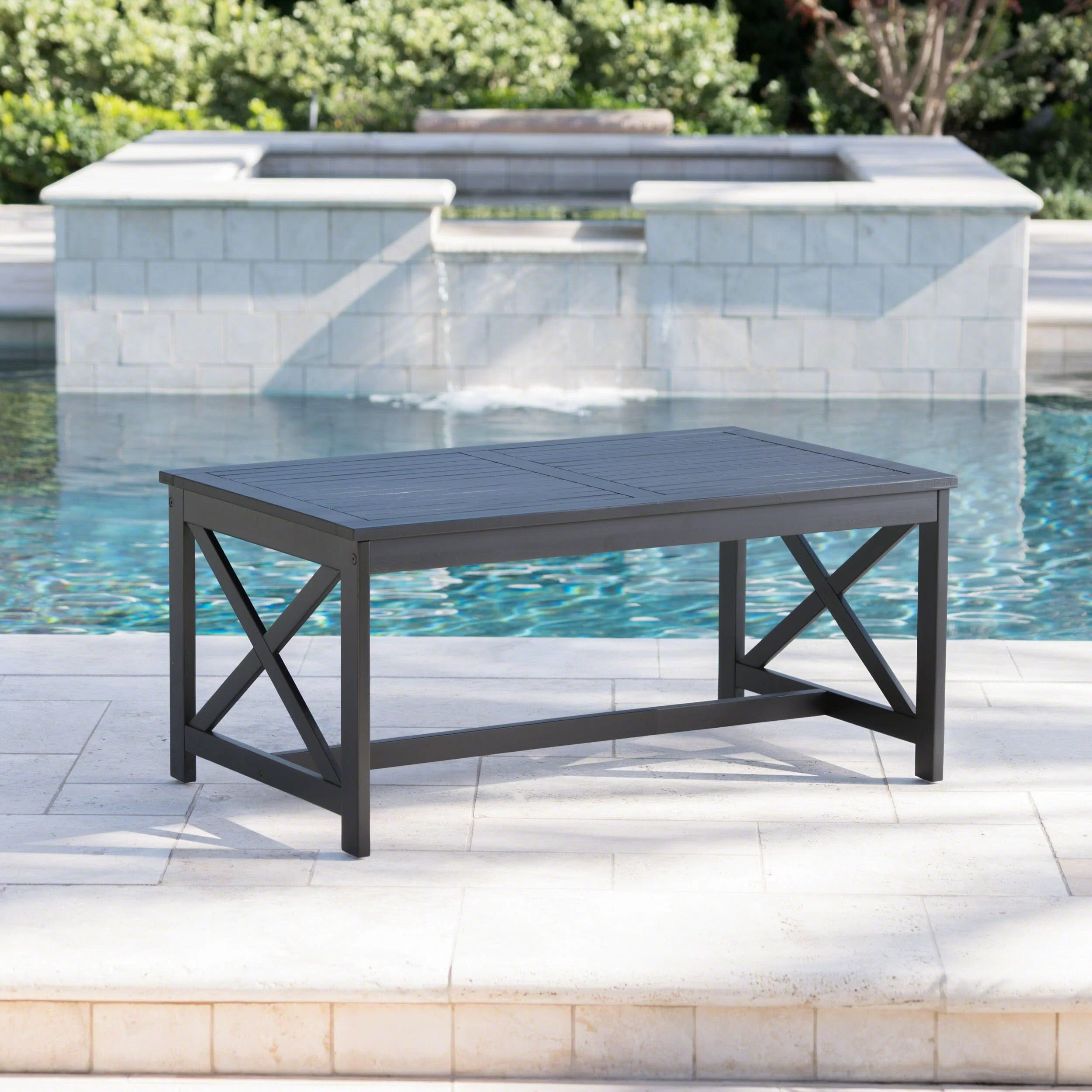outdoor wood patio tables up to 60