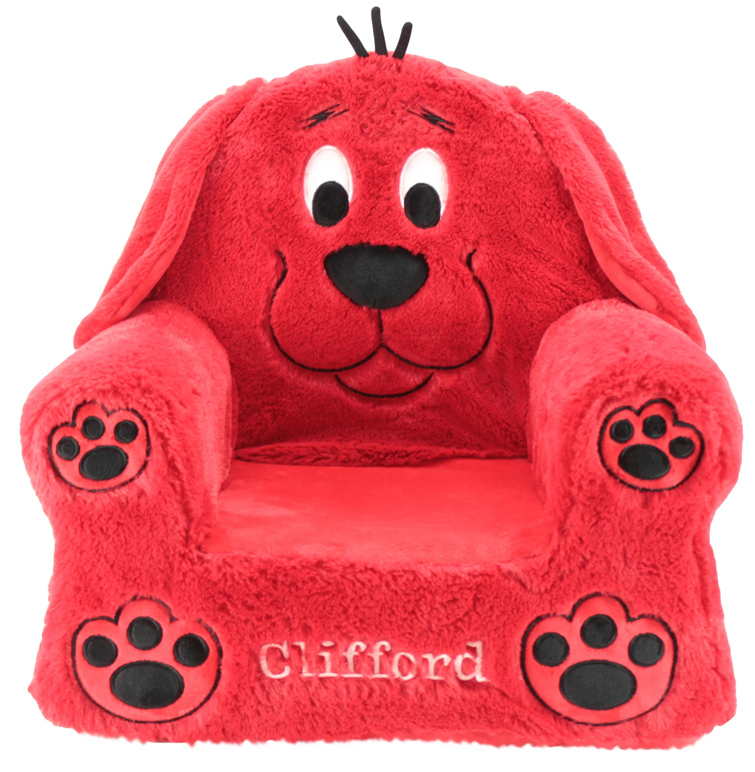 kids plush chairs office chair for lower back pain animal adventure clifford wayfair