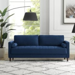 Navy Blue Couches Living Room Wall Color Ideas For Dark Caribbean Sofa Wayfair Quickview