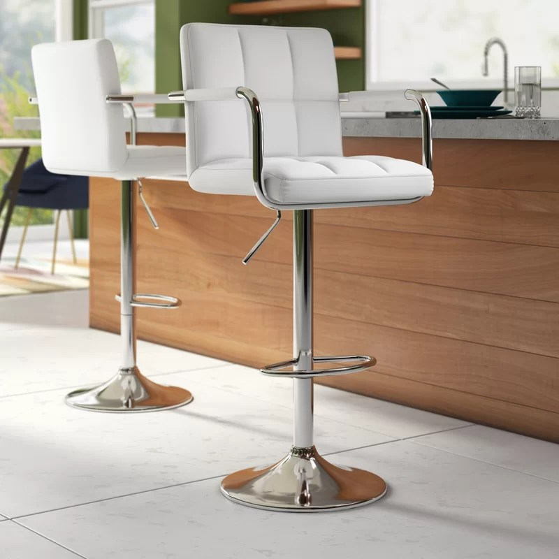 Hardiman Adjustable Height Swivel Bar Stool (Set of 2)