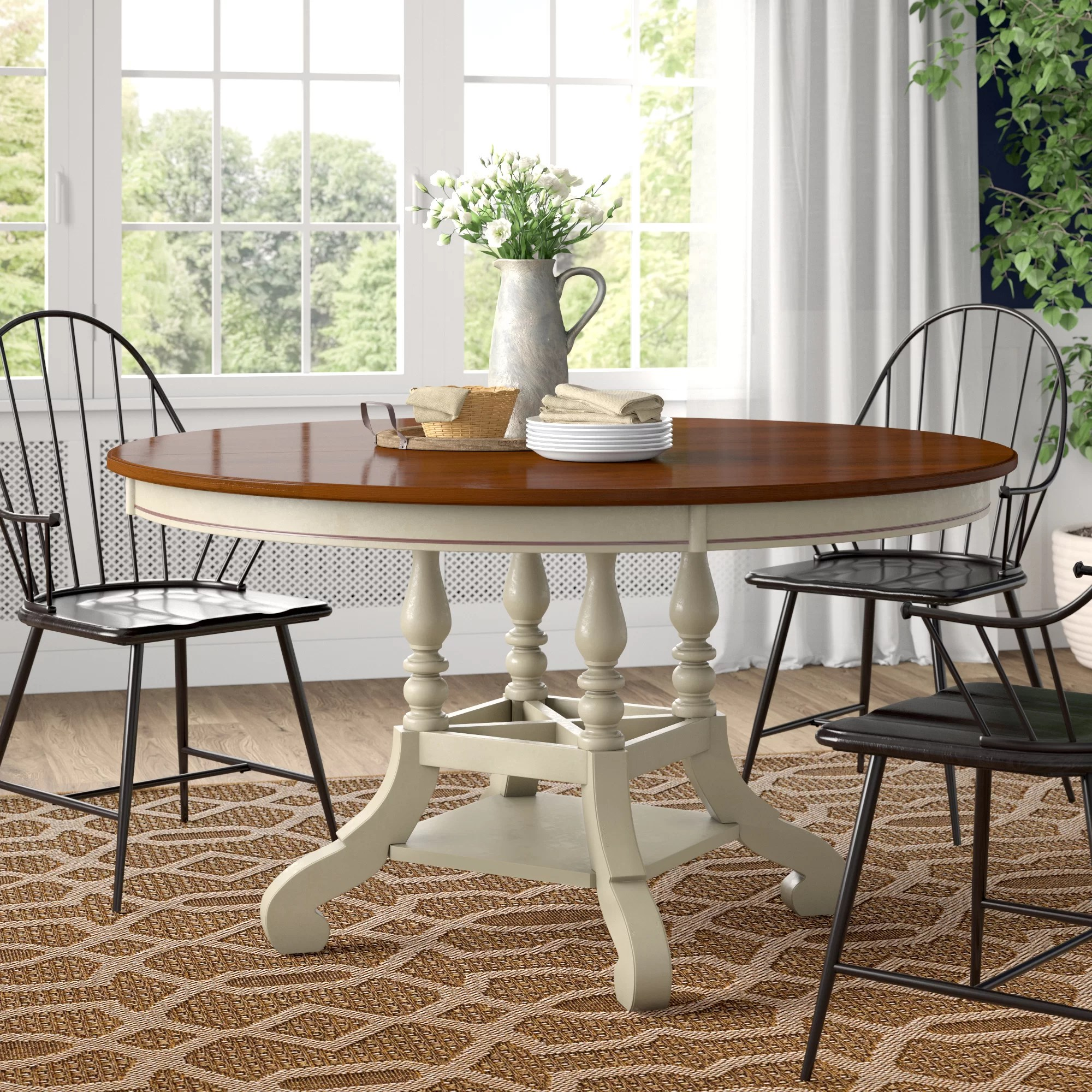 Copley Extendable Pine Solid Wood Dining Table Reviews