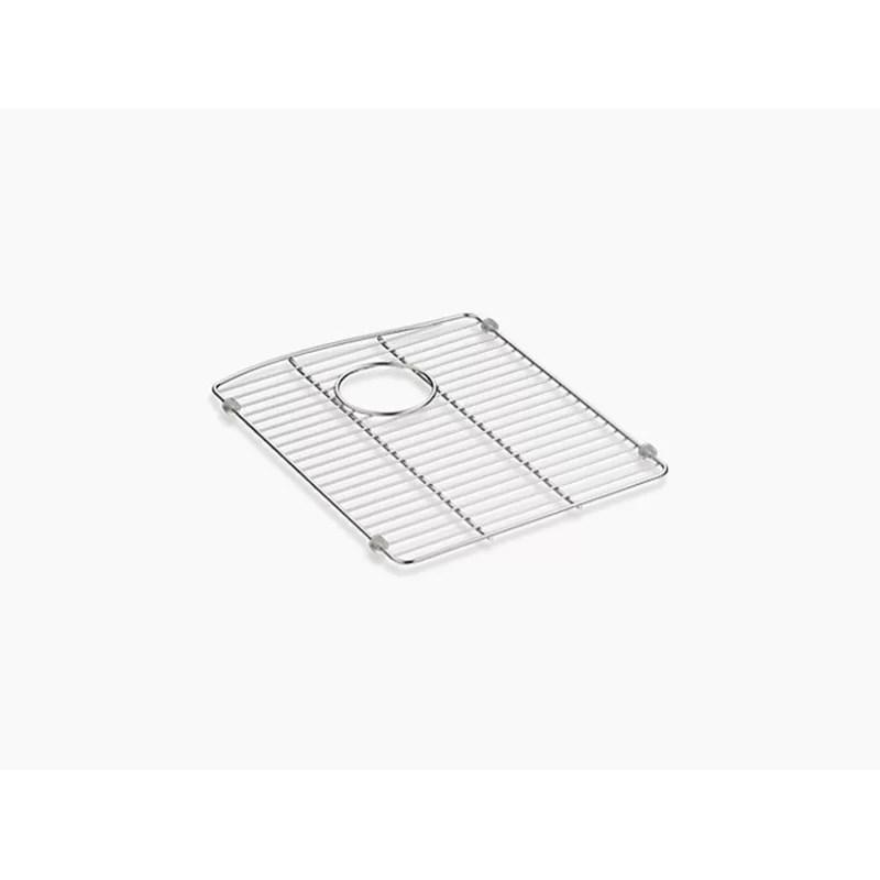 kohler kennon stainless steel sink rack 13 6 x 16 5 for left hand bowl