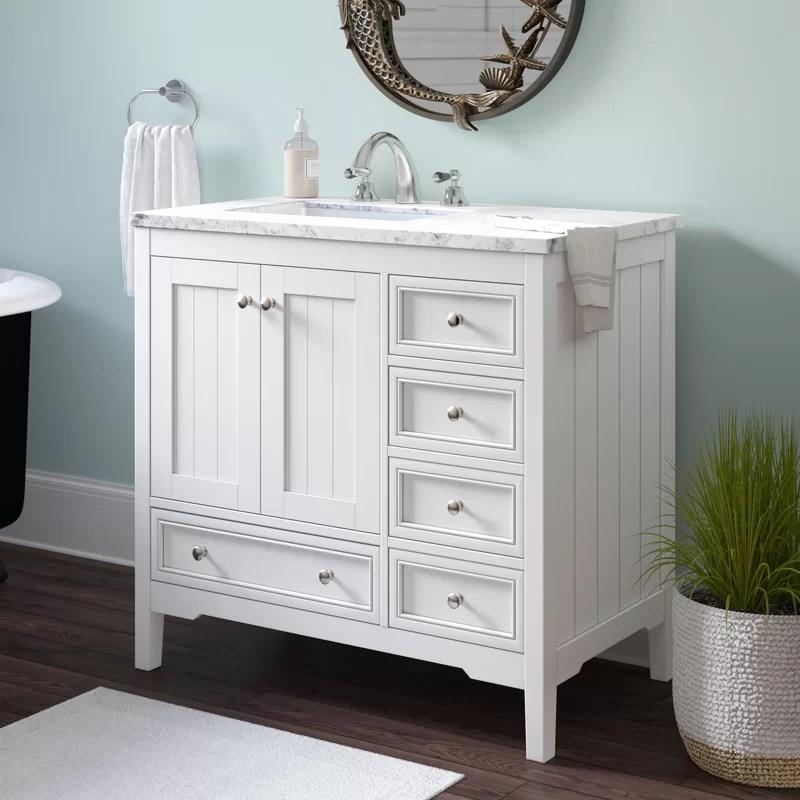 Beachcrest Home Murawski 36 Single Bathroom Vanity Set Reviews Wayfair