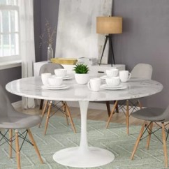 White Round Kitchen Table Jcpenney Rugs Faux Marble Dining Wayfair Julien Artificial