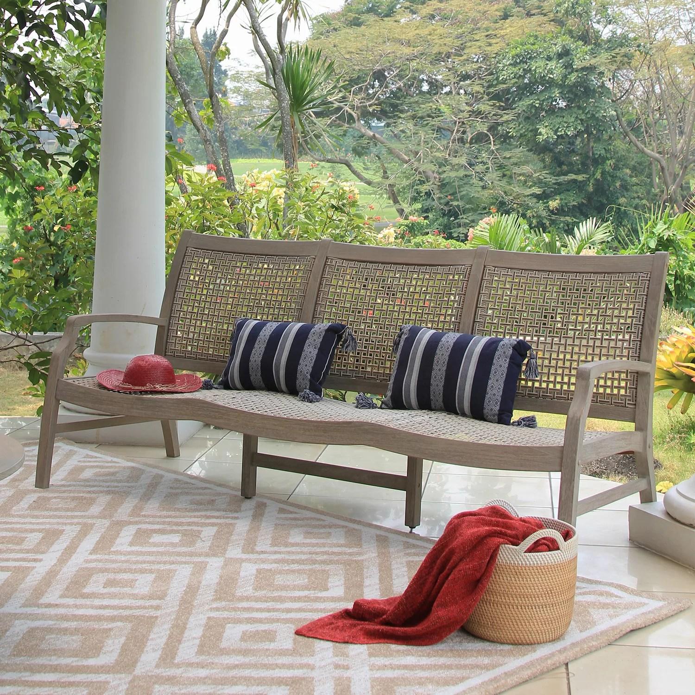 kiernan teak patio sofa