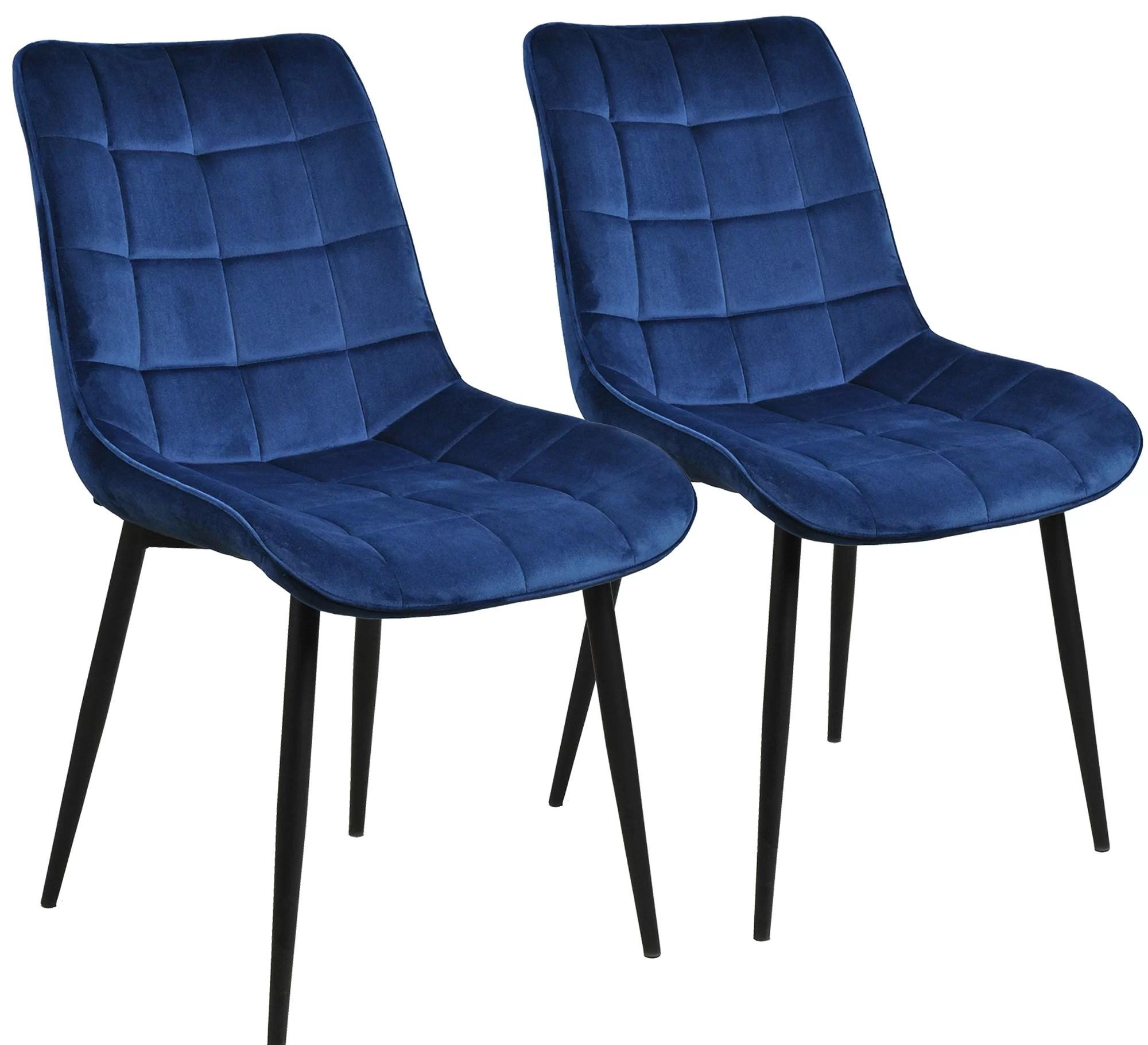 Milburn Tufted Velvet Upholstered Parsons Dining Chair