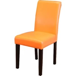 Orange Upholstered Chair Folding Chairs With Footrest Burnt Accent Wayfair Donnellson Dining Set Of 2