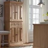 Farmhouse Rustic Wood Kitchen Pantry Cabinets Birch Lane