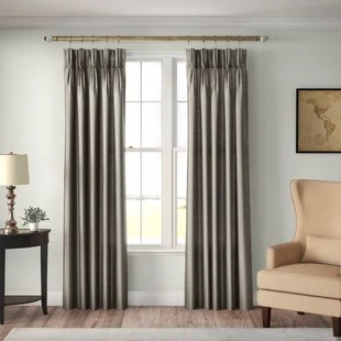 mansour solid pinch pleat single curtain panel