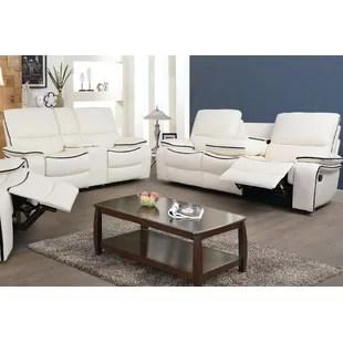 ryker reclining sofa and loveseat 2 piece set microfiber protector recliner wayfair ca eile living room