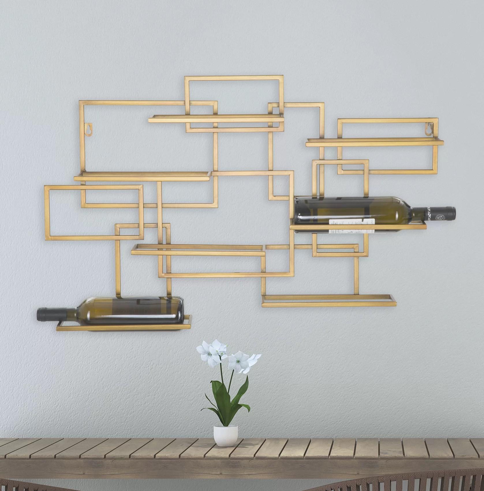 canora grey murry 7 bottle wall mounted wine rack reviews wayfair co uk