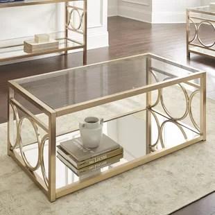 glass coffee tables you'll love | wayfair