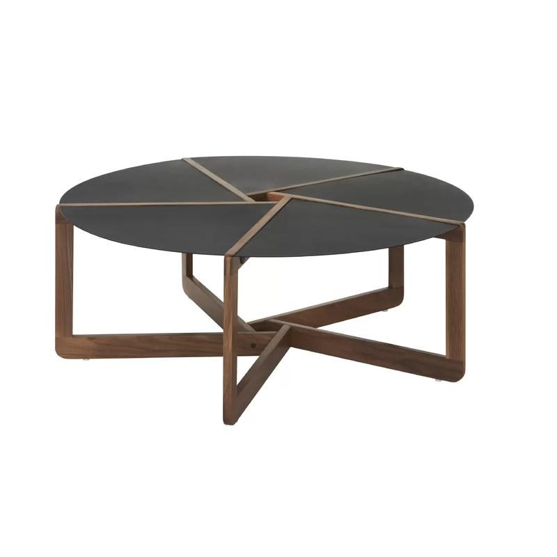 Pi Coffee Table Color: Walnut