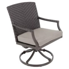 Wicker Swivel Patio Chair Grey Painted Kitchen Table And Chairs Resin Rocker Wayfair Quickview