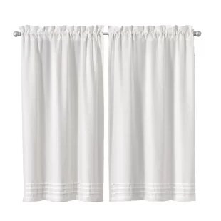rufina window pleated 26 cafe curtain set of 2