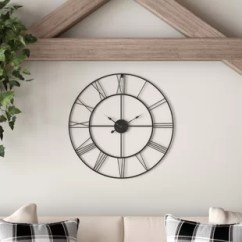 Living Room Clocks Next Colors Indian Oversized Wall You Ll Love Wayfair Moser Round Metal 24 Clock