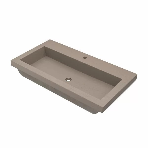trough sink with 2 faucets