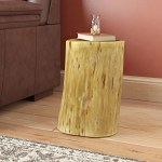 Union Rustic Wingfield Solid Wood Tree Stump End Table Reviews Wayfair