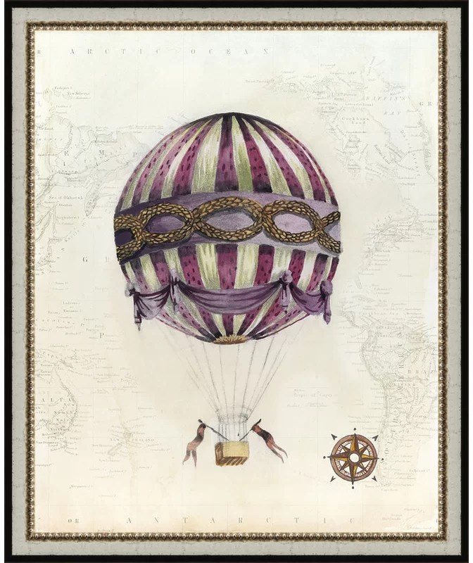 Trends Vintage Hot Air Balloons I Framed Graphic Art