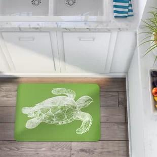 green kitchen mat buy cabinets lime wayfair redeker turtle