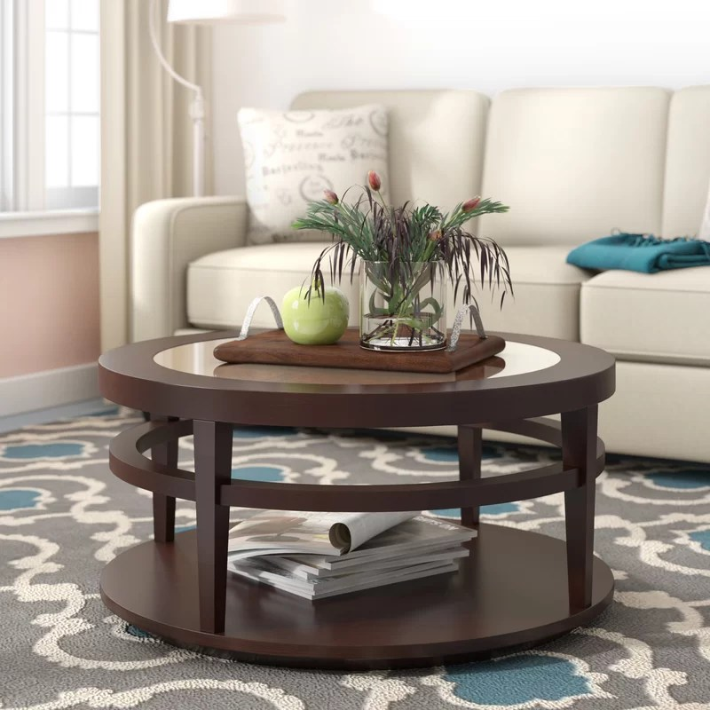 Brodus Floor Shelf Coffee Table with Storage