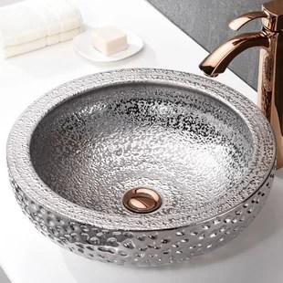 silver vessel bathroom sinks you ll