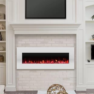 living room fireplaces hutch for you ll love wayfair ca lockport pearl wall mounted electric fireplace