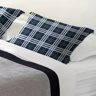 plaid pillow shams euro shams you ll