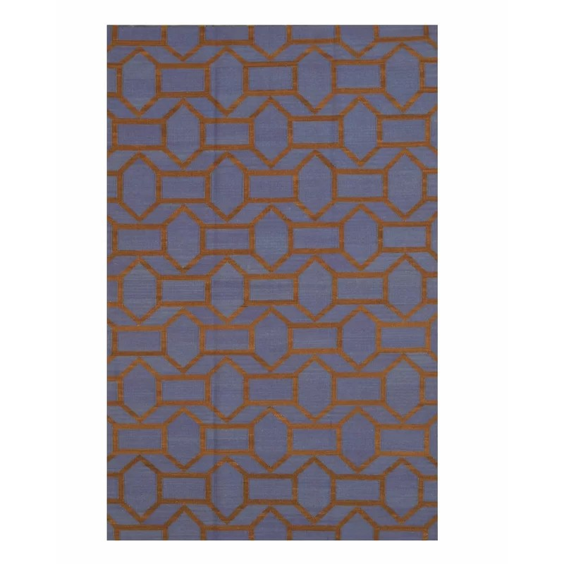 Handmade Blue Area Rug Size: Rectangle 9 x 12