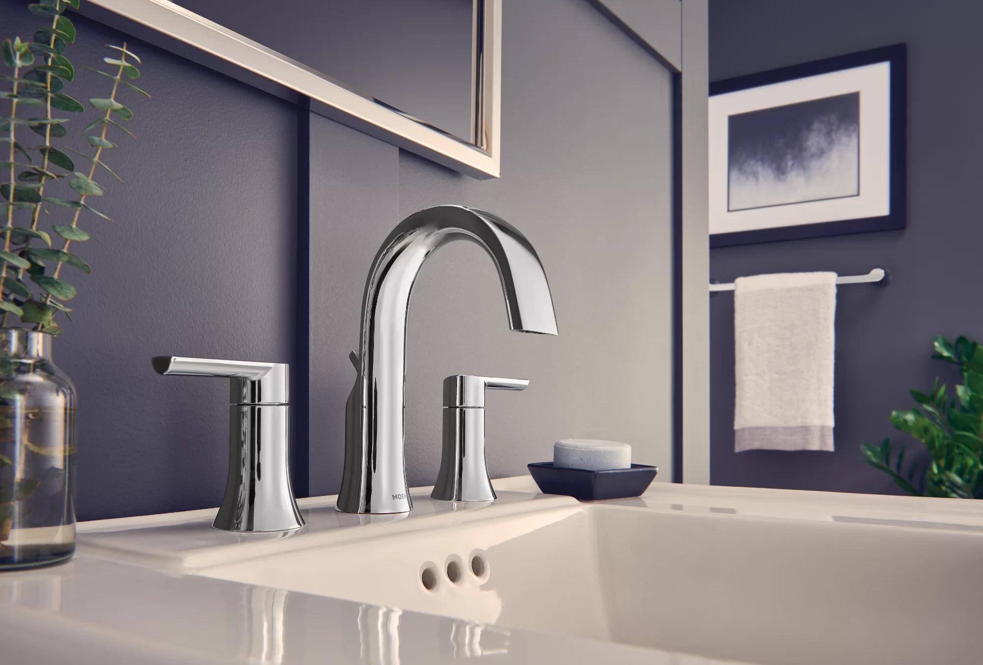 moen doux widespread bathroom faucet