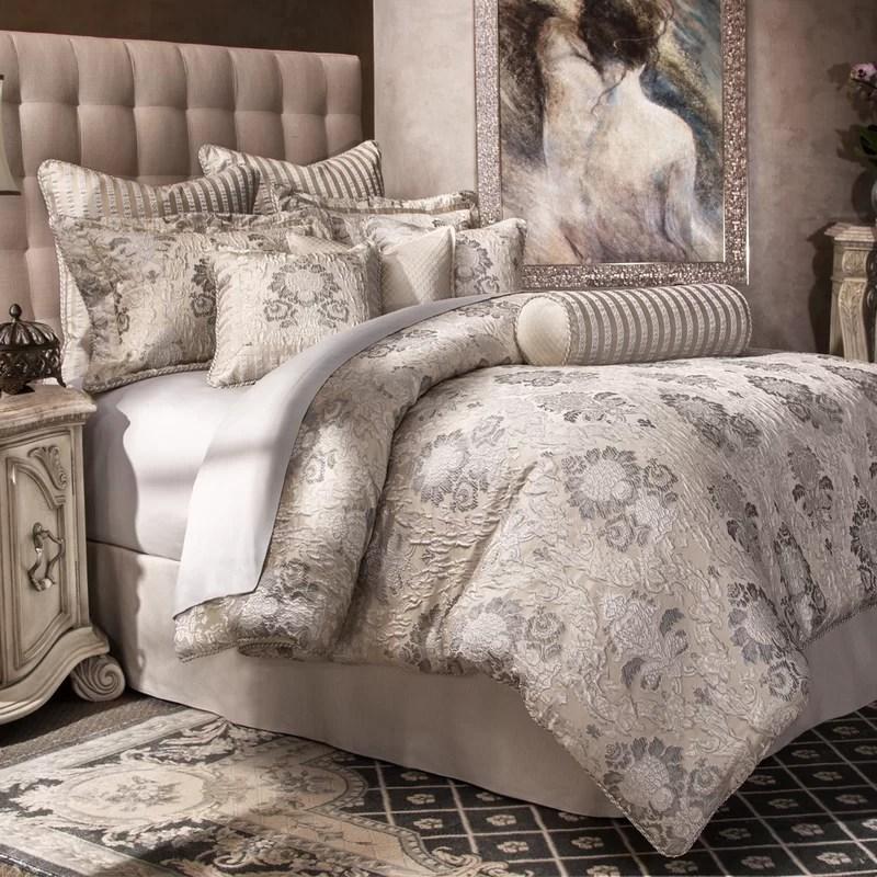 distinctive bedding designs sycamore silver damask 10 piece comforter set
