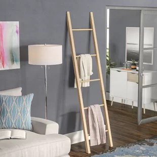 living room blanket holder indian wall colors ladders you ll love wayfair solid american 6 5 ft ladder