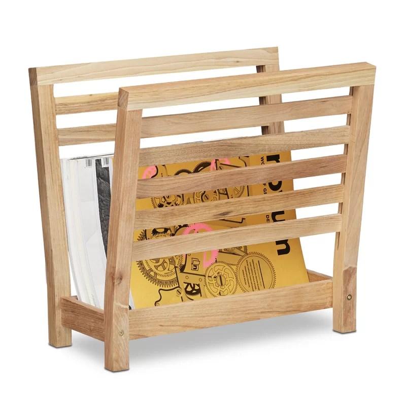 courtney wooden magazine rack